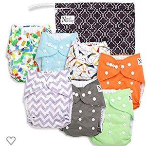 NIB Set of 7 Cloth Diapers